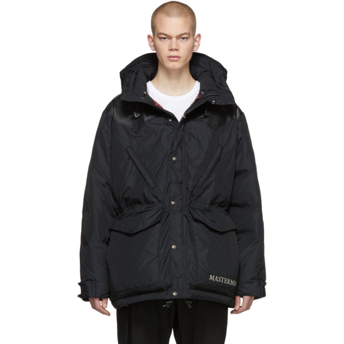 Mastermind Japan Tops MASTERMIND WORLD BLACK ROCKY MOUNTAIN FEATHERBED EDITION DOWN MOUNTAIN PARKA