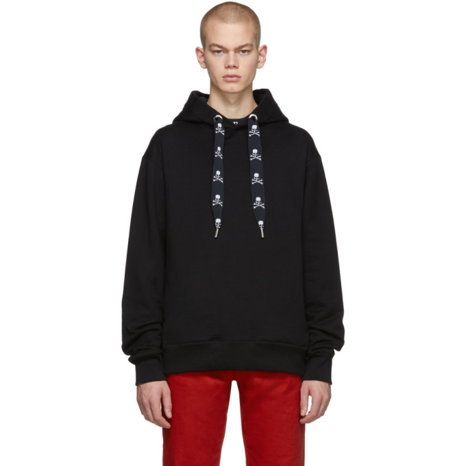 Mastermind Japan Tops MASTERMIND WORLD BLACK TAPE HOODIE