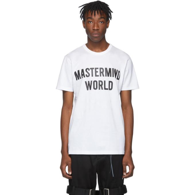 mastermind WORLD White No Prejudice T-Shirt