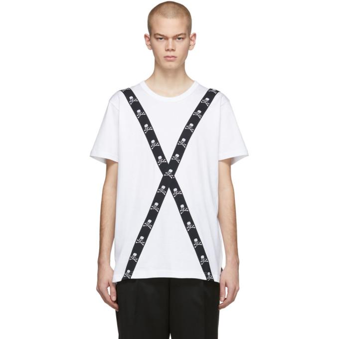 mastermind WORLD T-shirt blanc Tape