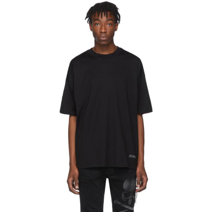 mastermind WORLD Black Tartan Back T-Shirt