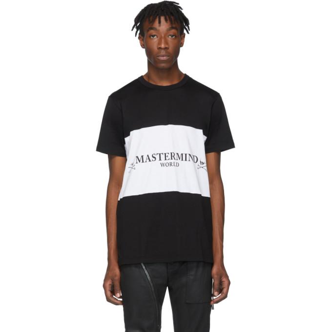 mastermind WORLD Black and White Colorblocked T-Shirt