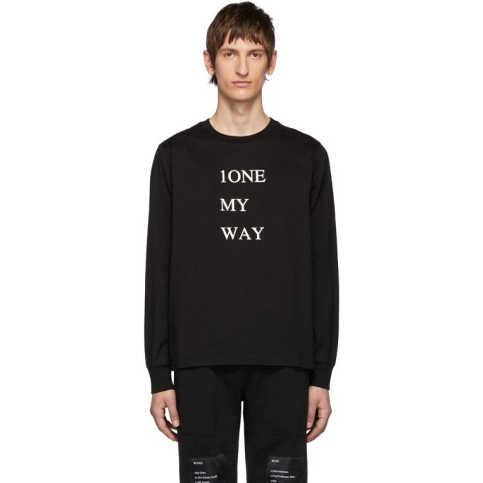 TAKAHIROMIYASHITA TheSoloist. T-shirt a manches longues noir 1One My Way