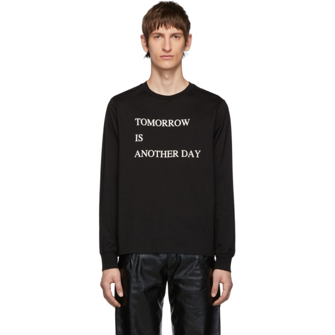 TAKAHIROMIYASHITA TheSoloist. T-shirt a manches longues noir Tomorrow Is Another Day