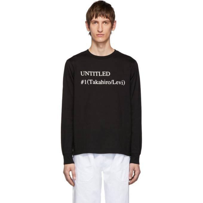 TAKAHIROMIYASHITA TheSoloist. Black Untitled 1 Long Sleeve T-Shirt