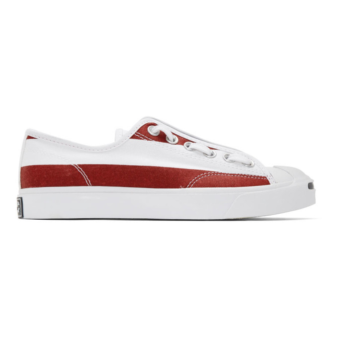 TAKAHIROMIYASHITA TheSoloist. Baskets a glissieres blanches et rouges Jack Purcell edition Converse