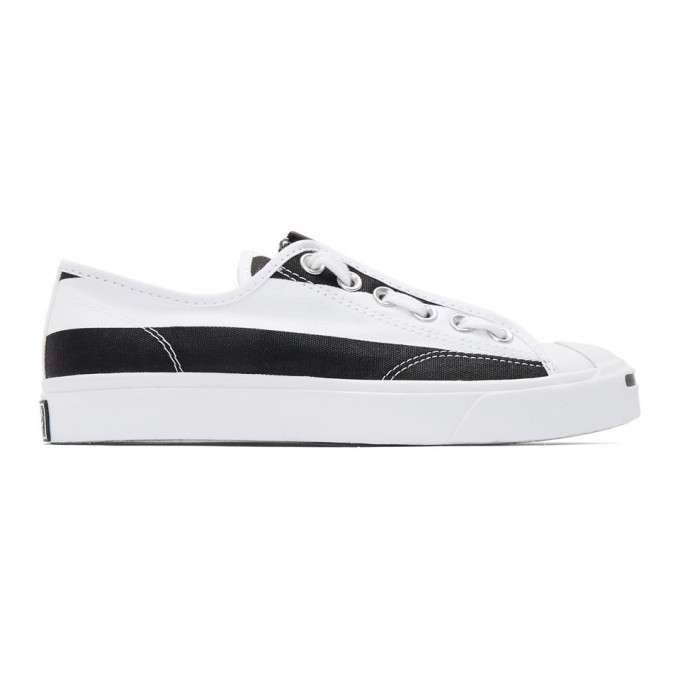 TAKAHIROMIYASHITA TheSoloist. Baskets a glissieres blanches et noires Jack Purcell edition Converse