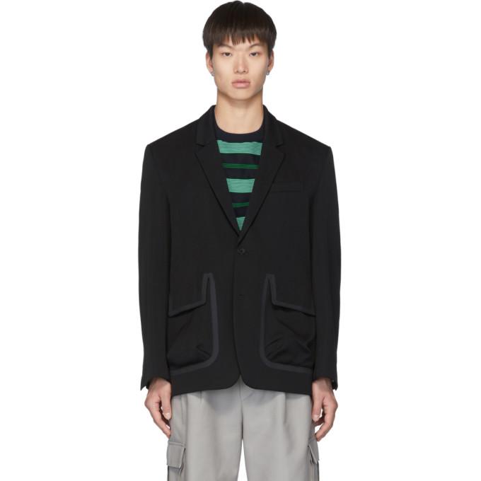 Name. Blazer en laine noir Tailored