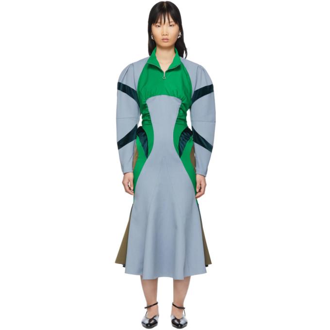 Kiko Kostadinov Blue Museo Dress In Cerulean