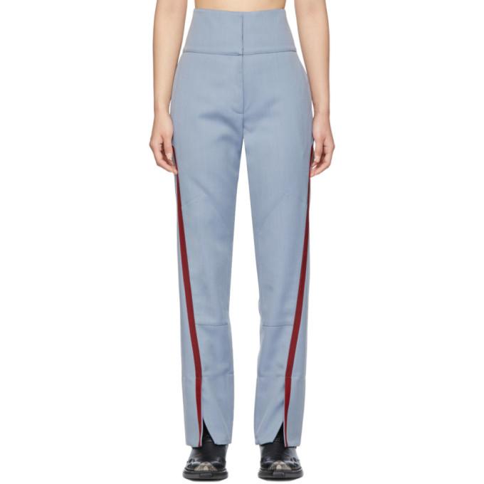 Kiko Kostadinov Blue Saturn Waist Trousers In Cerulean