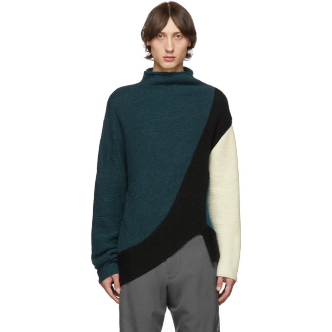 Kiko Kostadinov Green Merino and Alpaca Rex Sweater