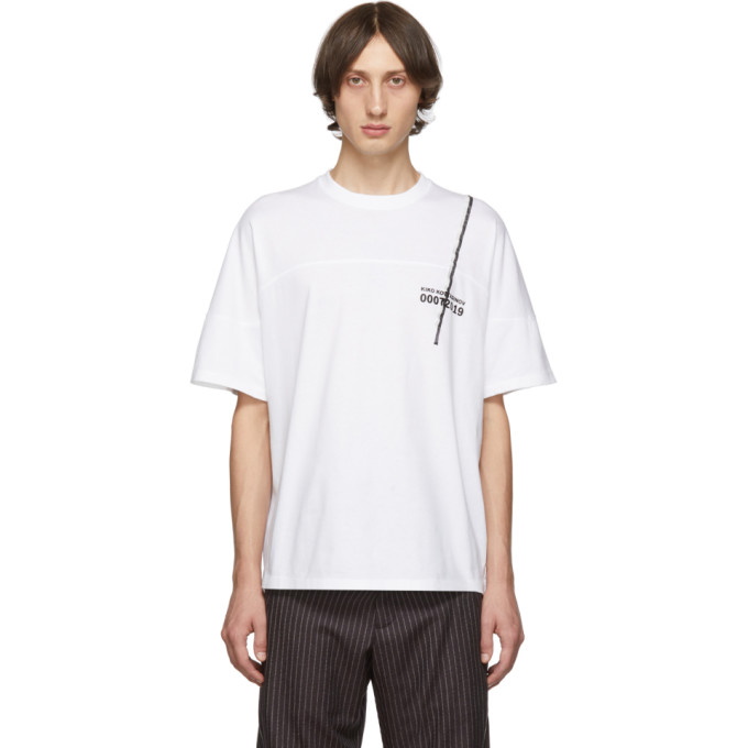 Kiko Kostadinov T-shirt blanc Graphic Embroidery