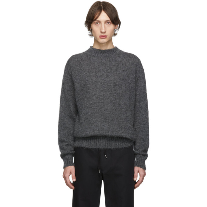 Schnaydermans Grey Mohair Crewneck Sweater