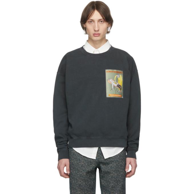 Schnaydermans Black Oversized Well-Pressed Pete Sweatshirt