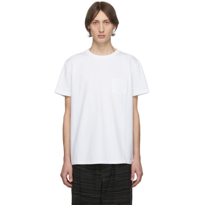Schnaydermans T-shirt blanc Hang-Dried Hank