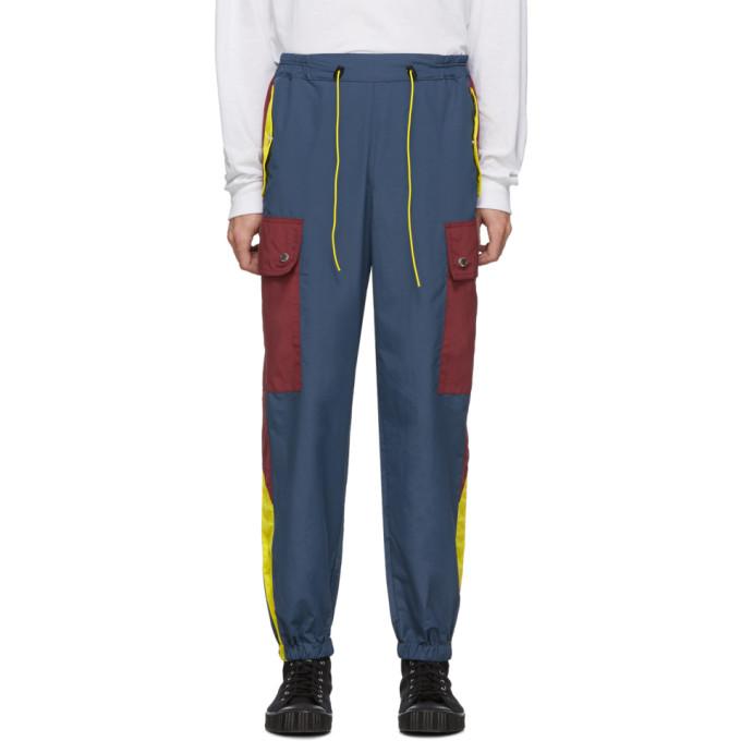 Landlord Pantalon cargo bleu marine et bourgogne Gym Teacher