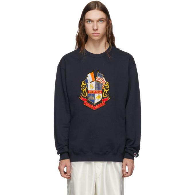 Landlord Navy Champion Reverse Weave Edition Prestigious Sweatshirt