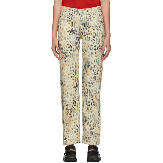 NAPA by Martine Rose Jean a motif leopard brun clair