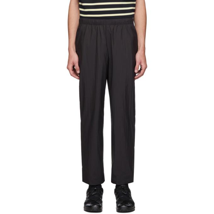N.Hoolywood Pantalon en nylon noir