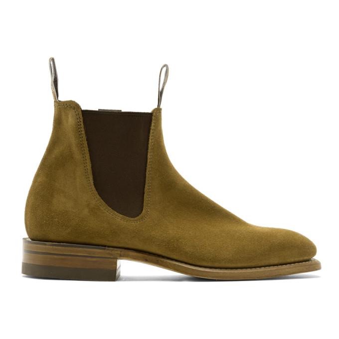 R.M. Williams Tan Craftsman Chelsea Boots