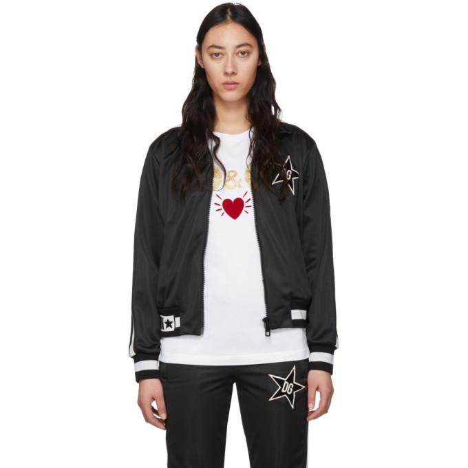 Dolce & Gabbana Jackets BLACK SIDE STAR ZIP UP JACKET