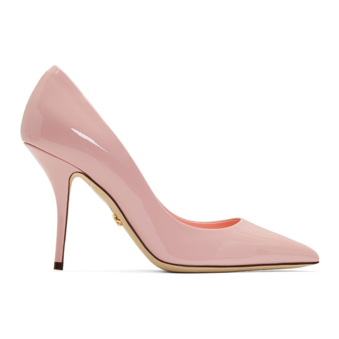 Buy Dolce and Gabbana Pink Patent Kate Heels online