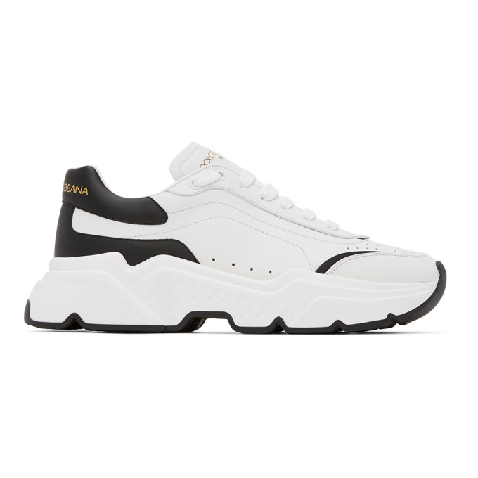 Dolce & Gabbana Dolce And Gabbana White And Black Daymaster Sneakers In 89697bianer