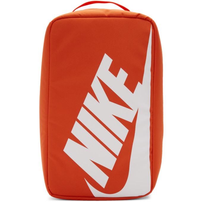 Nike Orange Nylon Shoe Box Bag In 810orange