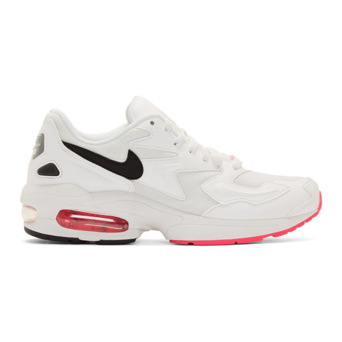 Nike White And Pink Air Max 2 Light Sneakers In 107Summitwh