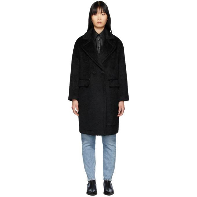 Mackage Manteau long en alpaga et laine noir Eve