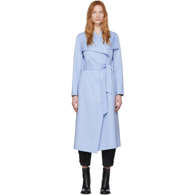 Mackage Manteau en laine bleu Mai