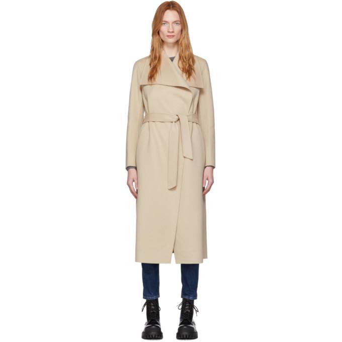Mackage Manteau en laine beige Mai
