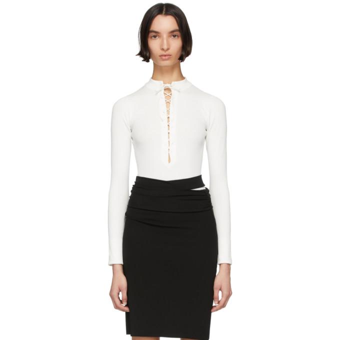 Kiki de Montparnasse Body blanc Deep V Lace-Up