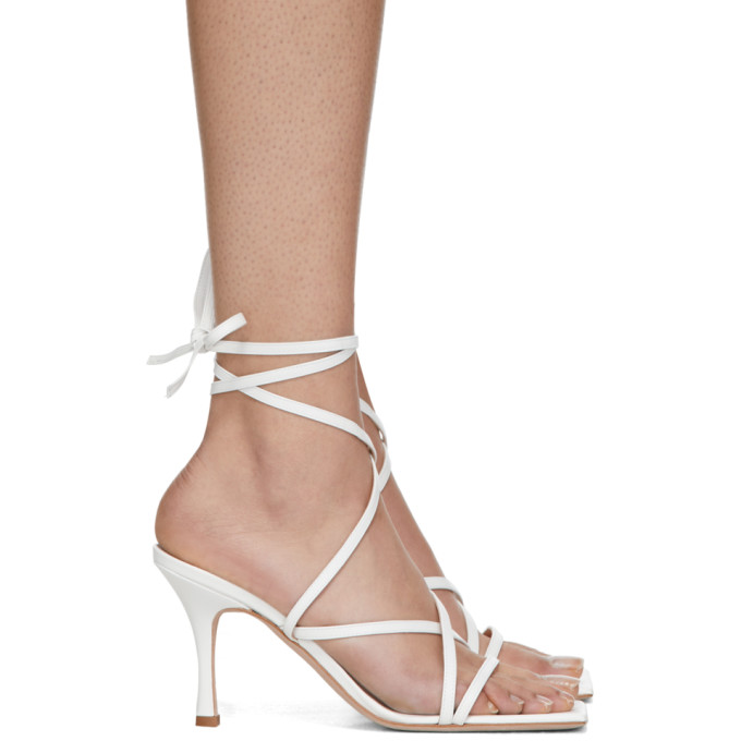 Buy A.W.A.K.E. MODE White Ophelia Heeled Sandals online