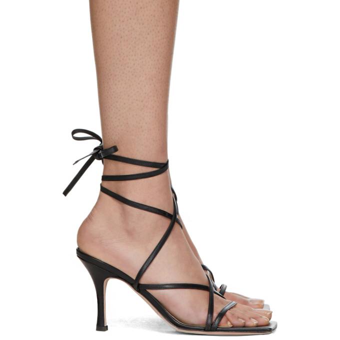 Buy A.W.A.K.E. MODE Black Ophelia Heeled Sandals online