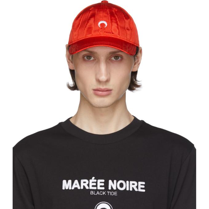 Marine Serre MARINE SERRE RED MOIRE LOGO CAP