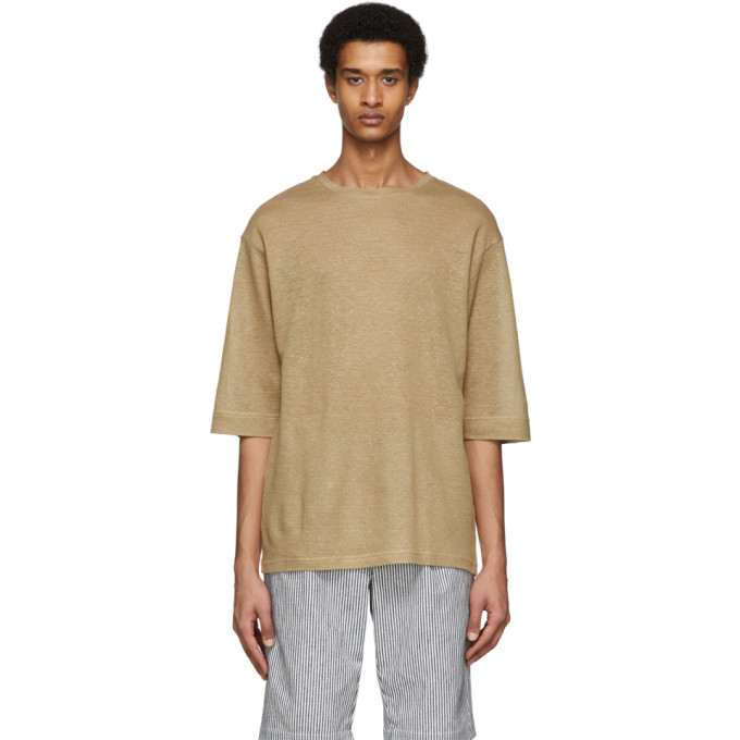 House of the Very Islands T-shirt en lin beige Rear Mirror