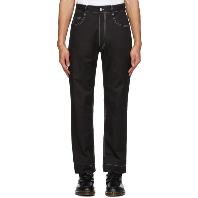 Daniel W. Fletcher Jean a coutures contrastantes noir