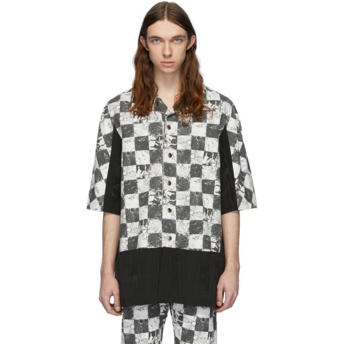 Palomo Spain Chemise a manches courtes et imprime noire et blanche