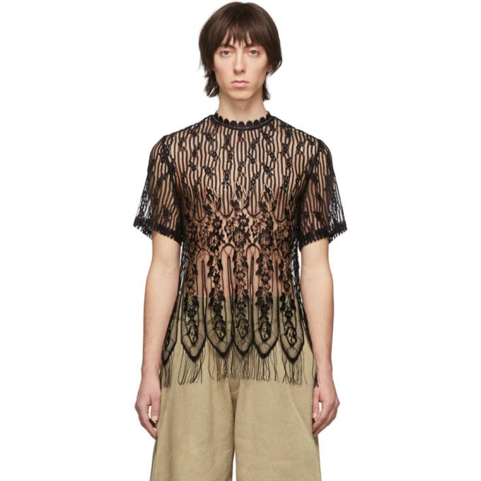 Palomo Spain T-shirt en dentelle noir