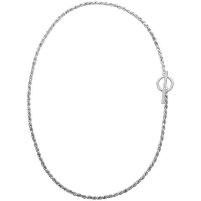 All Blues ALL BLUES SILVER ROPE CHAIN NECKLACE