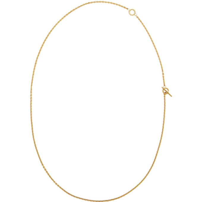 All Blues Accessories ALL BLUES GOLD POLISHED STRING NECKLACE