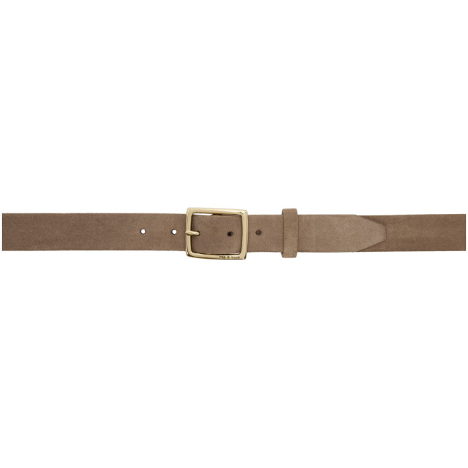 rag and bone Ceinture en suede beige Boyfriend