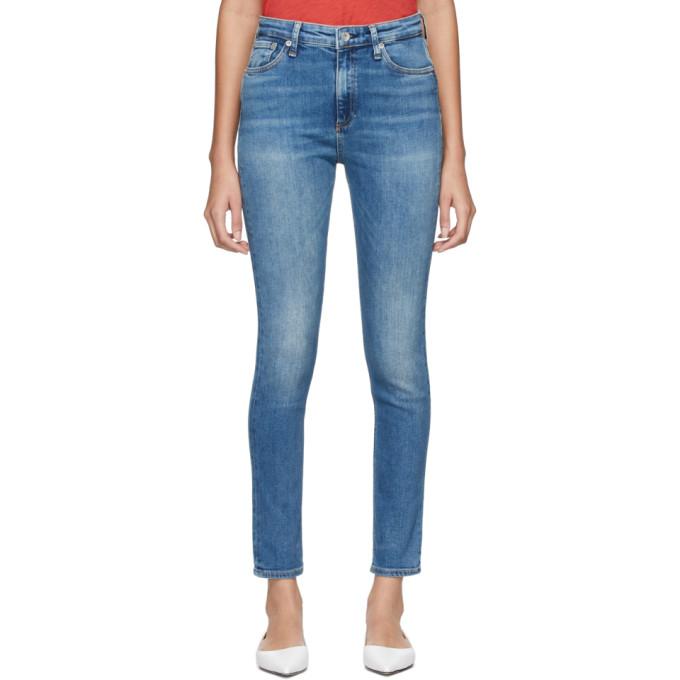 rag and bone Jean bleu Nina High-Rise Skinny