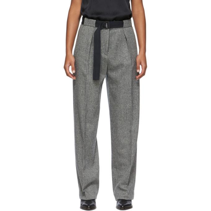 Rag & Bone Black & White Rochelle Trousers In Black Multi