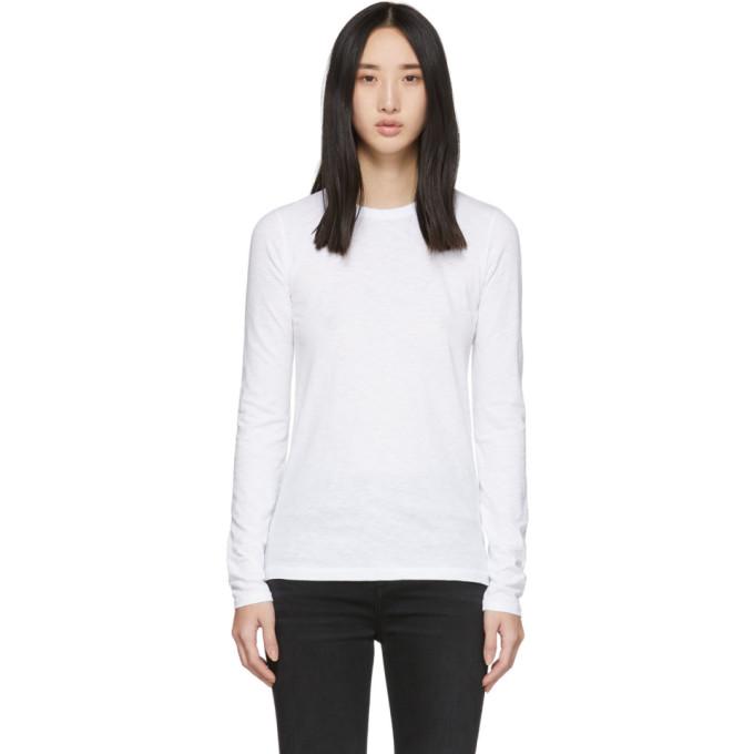 rag and bone T-shirt blanc The Long Sleeve