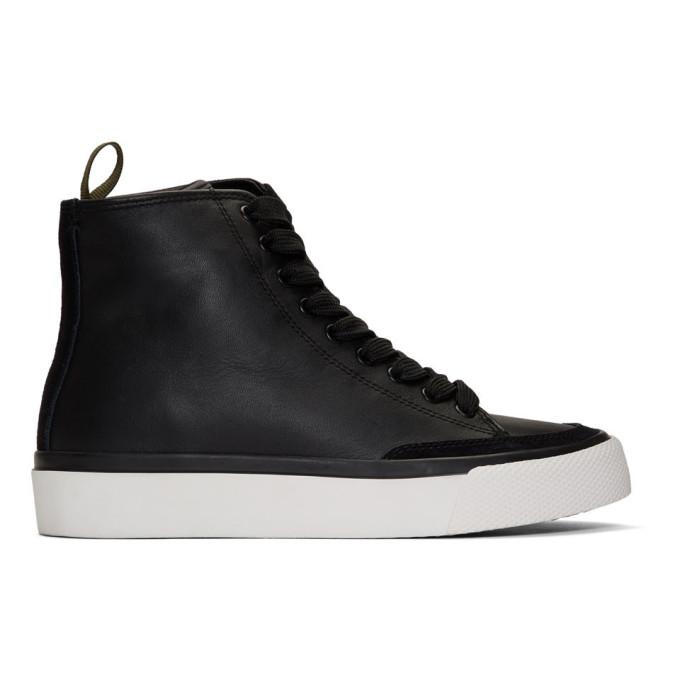 rag and bone Black RB High-Top Sneakers
