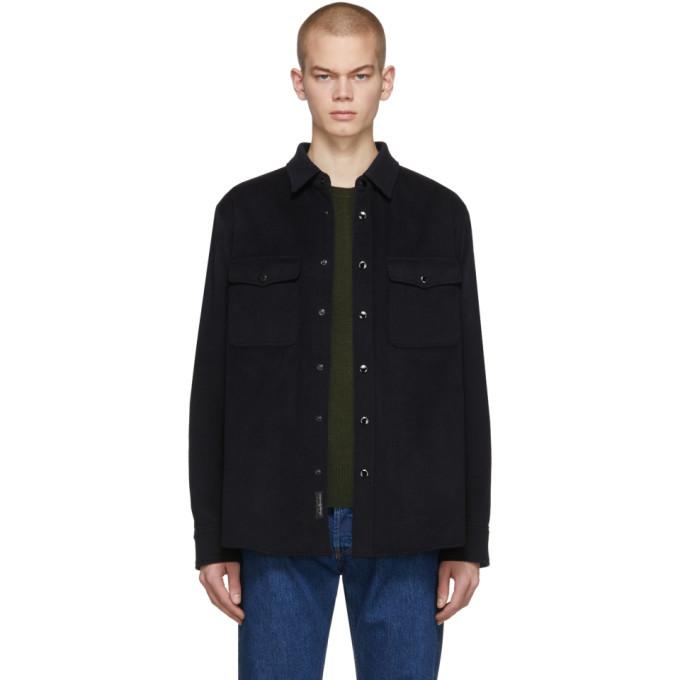 rag and bone Chemise en laine noire Jack Jacket