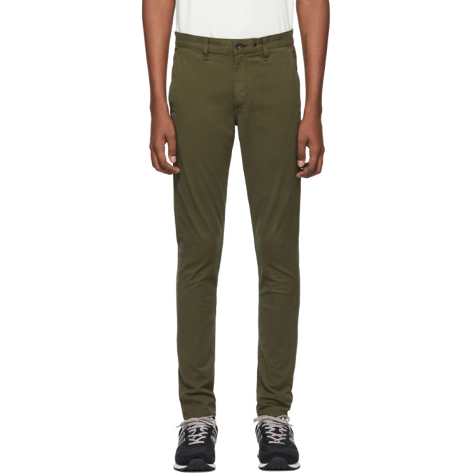 rag and bone Green Fit 1 Classic Chino Trousers