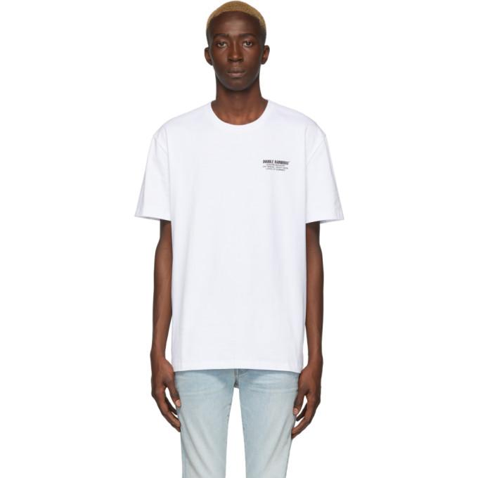 Double Rainbouu T-shirt blanc Palm Tree